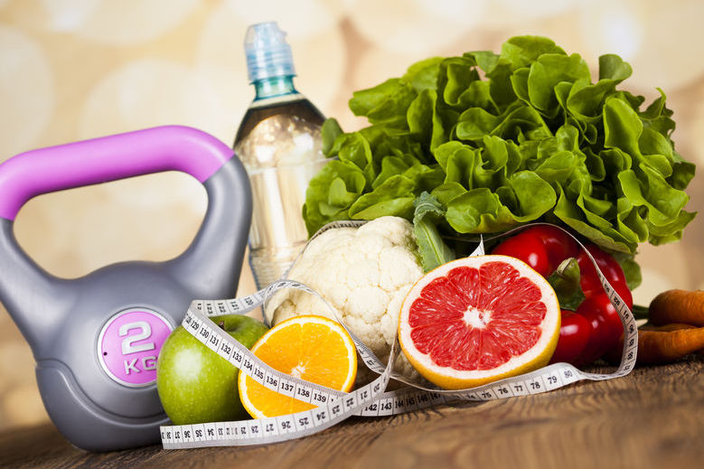Image representing fitness and health food