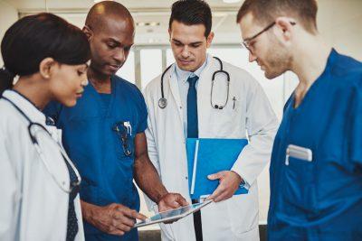 Doctors working together